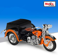Maisto 1:18 Harley Davidson 1947 Servi-Car Motorcycle Model Bike Orange