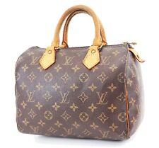 Authentic LOUIS VUITTON Speedy 25 Monogram Boston Handbag Purse #36278
