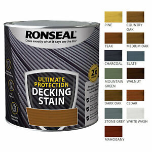 Ronseal 2.5L Ultimate Protection Decking Stain Rich Colour Extra Tough Paint
