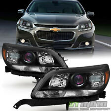 LEFT+RIGHT Blk 2013 2014 2015 Chevy Malibu LT LTZ Projector Headlights Headlamps