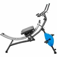 2-in-1 Ab Abdominal Crunch Sit Up Stationary Cycle Bike Fitness Machine trainer