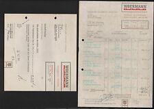 DARMSTADT, Rechnung Brief 1964/68, Woermann GmbH Haftemulsion