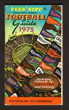 Peek--1975 College Football/Big 10 Schedule Booklet--Peoples National Bank