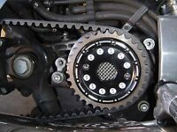 Sportster & XR1200 2004-Up, Black Pulley Cover, Front Transmission  PCB-SP1