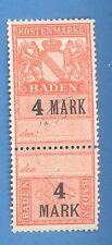 GERMANY BADEN REVENUE STAMP 4 MARK 2268