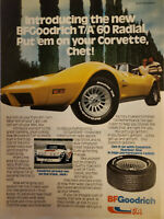 BFGoodrich T/A 60 Radial Corvette 1979 One-Page Vintage Print Ad Approx. 8x11in