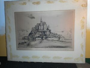 antique signed & titled etching; Paul Joffay print