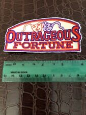 OUTRAGEOUS FORTUNE Vintage Iron-on Embroidered Patch