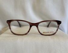 Michael Kors Eyeglass Frame MK 285 Plum Horn Women New