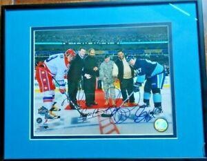 NHL Winter Classic Mario Lemieux Sidney Crosby, Bettis, Franco autographed photo