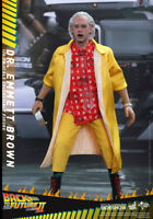 "Dr Emmett Brown Christopher Lloyd Back to the Future 2 MMS380 12"" Figur Hot Toys"