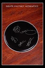 GFA Australian Rock Band  * THE TEMPER TRAP *  Signed Drumhead w/ Sketch AD2 COA