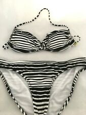 Size Large 2 Piece Bikini SURFSIDE Black /& White Striped NWT