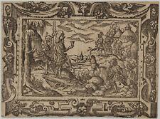 SOLDATEN HARFE David Original Virgil SOLIS Ornament Holzschnitt um 1560 Rollwerk