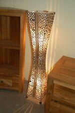 Lámpara Estándar De Pie Con Anillos De Bambú Natural Y Bambú - 100cm
