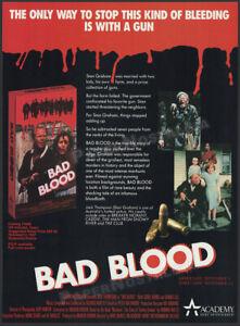 BAD BLOOD__Original 1987 Print AD / ADVERT__Jack Thompson_Carol Burns_Denis Lill
