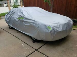 3XL Full Car Cover Waterproof Windproof Outdoor All Weather Protection Fit Sedan