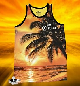 New Corona Extra Beer Palm Tree Beach Classic Men's Vintage Tank Top T-Shirt