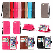 Strap Embossing Flower Leather Wallet Card Holder Case Cover For LG Iphone YB