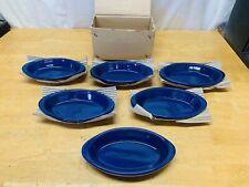 Set of 6 World Tableware 8oz Rarebit, Cobalt Blue Glaze Casserole Dishes