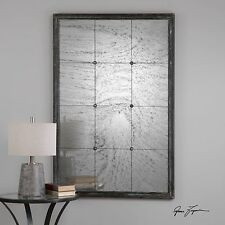 """NEW STATELY 60"""" ANTIQUED MIRROR PINE WOOD FRAME WALL ART MIRROR VINTAGE STYLE"""
