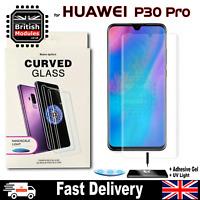 Huawei P30 Pro UV Glue Nano Optics 3D 9H Curved Tempered Glass Screen Protector