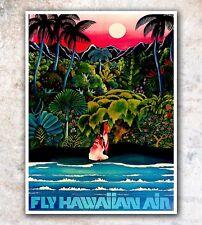 "Hawaii Art Travel Poster Wall Decor Print 12x16"" A486"
