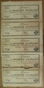 001- Ass 59b - Mandat de 25 francs - feuille de 5 exemplaires - RARE
