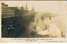 POSTCARD THE GUNS OF COLOGNE SIGNAL SIGNING OF PEACE TREATY JUNE 28TH 1919