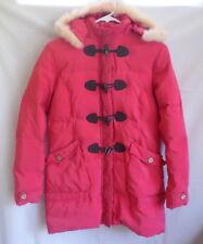 Momoco Kids Down Coat Jacket Girls Fur Trim Pink Removeable Hood