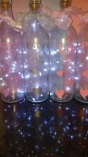 Personalised  with Hearts frosted  light up bottle.