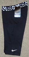 "Nike sz S Women's  Pro 11"" GLITCH Waistband Dri-Fit Shorts NEW 724886 010 Black"