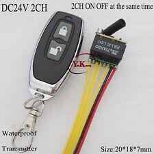remote switch DC24V-2CH-Micro-Remote-Switch-NO-COM-NC-Contact-Wireless-Switch  D
