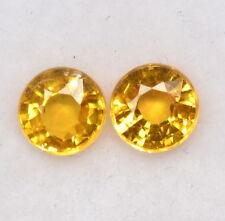 Natural Yellow Sapphire Round Cut 4.50 mm 0.92 Cts Faceted Loose Gemstones