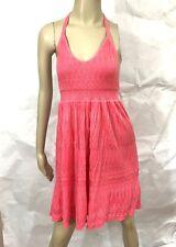 Victoria's Secret Dress M Pink Halter Beach Knit Halter Size Medium
