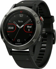 Garmin Fenix 5 Sapphire HR Heart Rate GPS Running Sports Multisport Watch Black
