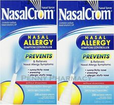 Nasalcrom Nasal Allergy Symptom Controller Spray - 0.88 oz (Pack of 2) 400 SPRAY