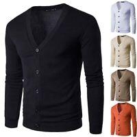 Jacket Cardigan Casual Winter Knit V Neck Tops Sweater Slim Coat Long Sleeve