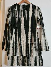 Asos Abstract Black & White  Dress Bodycon  Size 12 /  Size 10