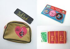 Paul Frank Gold Cosmetic Pouch + Mini Patch Set + Knit Wristbands New Combo