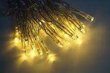 Lichterkette 50 LED Warmweiß Batterie für Innenräume