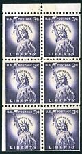 US 1954 Statue of Liberty Booklet of 6 . (1035a) . Mint Never Hinged