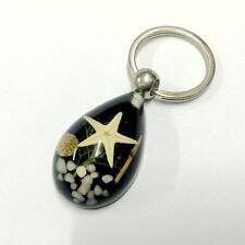 12pc wholesale  lots fashion huge white starfish black style   key-chains ff-08