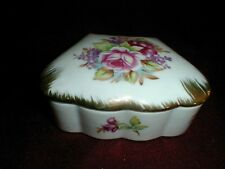 Shafford Japanese Fine Porcelain Floral Bouquet w Roses Trinket/Jewelry Box