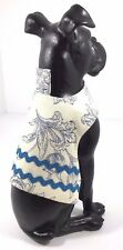 Dog Pet Clothes Harness SZ XS 3 to 5 LBS NEW Handmade White Blue Rick Rack Rows