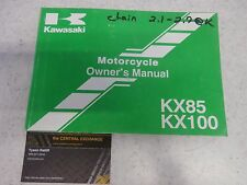 Kawasaki KX85-A1 KX100-D1 Owners Manual Booklet Operator Genuine 99920-1027-02