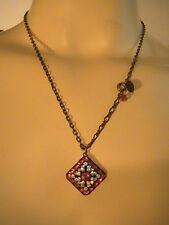 Liz Palacios Swarovski Crystal Red Designer's Necklace Chain