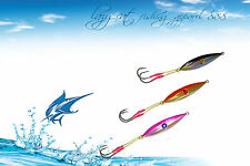 Top quality Fishing jigs elliptical deep water lures 3 pack