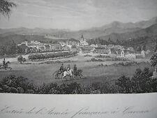 Carrara Toscana Italia Napoleon Italienischer Feldzug Stahlstich 1837