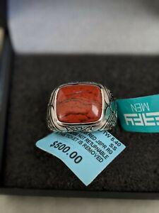 Effy Men's size 10  5.4 ct. t.w. Red Jasper Ring in Sterling Silverz2